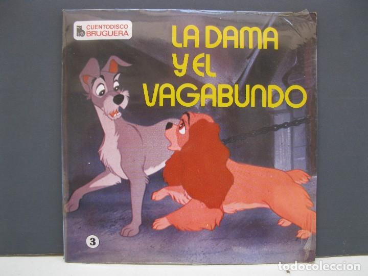 CUENTODISCO BRUGUERA - Nº 3 - LA DAMA Y EL VAGABUNDO - CUENTO + DISCO - AÑO 1968 - NUEVO. (Música - Discos de Vinilo - EPs - Música Infantil)
