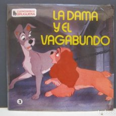 Discos de vinilo: CUENTODISCO BRUGUERA - Nº 3 - LA DAMA Y EL VAGABUNDO - CUENTO + DISCO - AÑO 1968 - NUEVO.. Lote 136387985