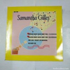 Discos de vinilo: SAMANTHA GILLES. HEAVEN MUST HAVE SENT YOU. 78 VERSION. ONE WAY TICKET. MAXI-SINGLE. TDKDA26. Lote 124545131
