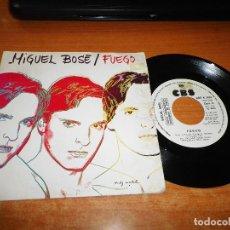 Discos de vinilo: MIGUEL BOSE FUEGO SINGLE VINILO PROMO 1983 ANDY WARHOL NACHO CANUT CARLOS BERLANGA FANGORIA. Lote 124545575