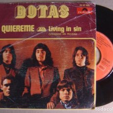 Discos de vinilo: BOTAS - QUIEREME + LIVING IN SIN - SINGLE - 1973 - POLYDOR. Lote 124547099