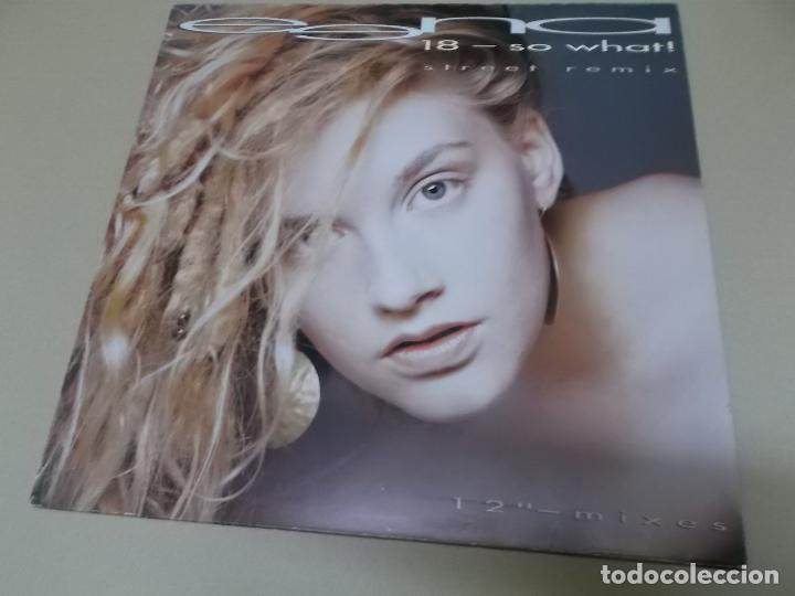 EENA (MX) 18-SO WHAT +3 TRACKS AÑO 1990 – EDICION ALEMANIA (Música - Discos de Vinilo - Maxi Singles - Pop - Rock Extranjero de los 90 a la actualidad)