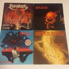 "Discos de vinilo: LOTE SEPULTURA - 3 LP (MORBID VISIONS, BENEATH THE REMAINS, SCHIZOPHRENIA) + 12"" MAXI UNDER SIEGE. Lote 124562038"