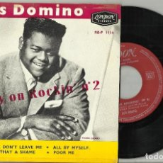 Discos de vinilo: FATS DOMINO EP PLEASE DON'T LEAVE ME + 3 FRANCIA 1958. Lote 124573063