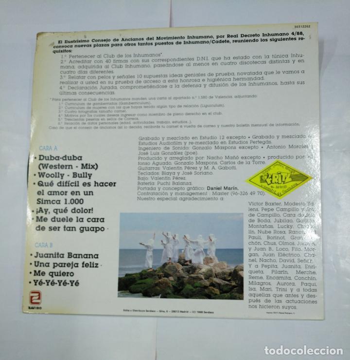 Discos de vinilo: LOS INHUMANOS. - 30 HOMBRES SOLOS- LP . TDKDA27 - Foto 2 - 124575975