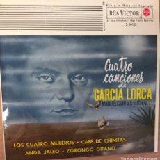 Discos de vinilo: MANUEL CANO : EP 1962 RCA VICTOR 3-261885- 4 CANCIONES DE GARCIA LORCA , ANDA JALEO...COMO NUEVO. Lote 124583347
