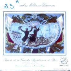 Discos de vinilo: MARCHAS MILITARES FRANCESAS (BANDA DE LA GUARDIA REPUBLICANA DE PARIS) EP 1958. Lote 124587127