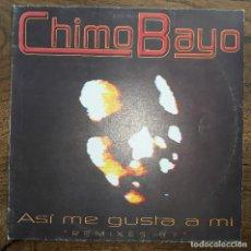 Discos de vinilo: CHIMO BAYO ASI ME GUSTA A MI REMIXES 97 MAXI BLANCO Y NEGRO MAXISINGLE 12. Lote 130127640