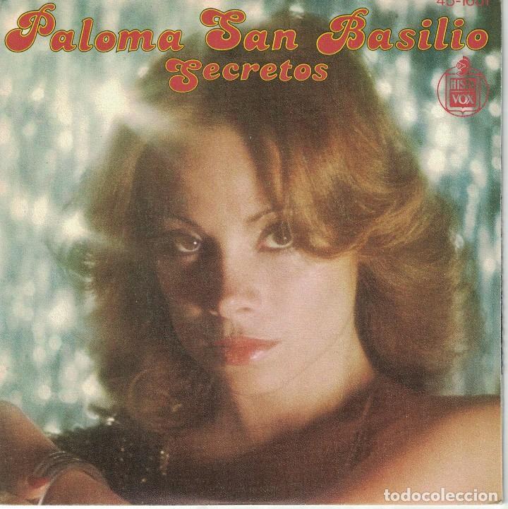 PALOMA SAN BASILIO - SECRETOS / ATARDECER (SINGLE ESPAÑOL, HISPAVOX 1978) (Música - Discos - Singles Vinilo - Solistas Españoles de los 70 a la actualidad)