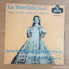 Discos de vinilo: RENATA TEBALDI & GIANNI POGGI - LA TRAVIATA -DECCA 1958. Lote 124605103