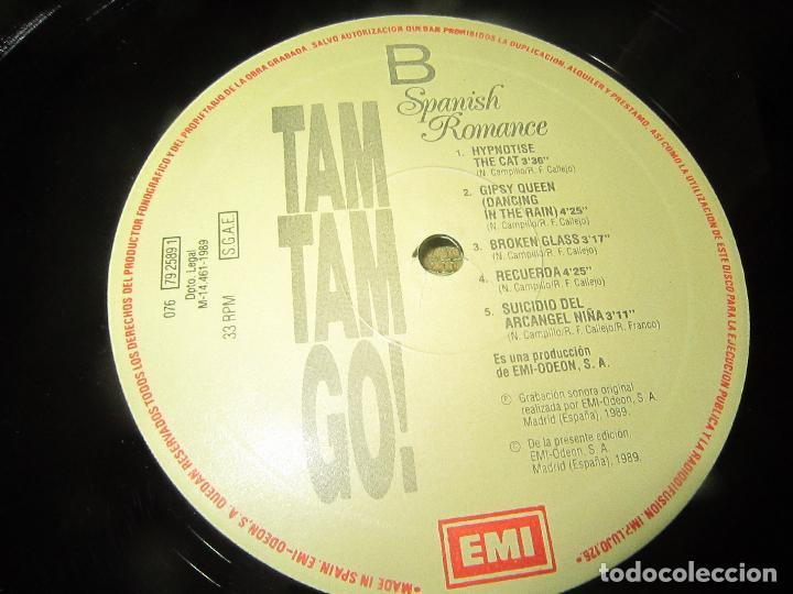 Discos de vinilo: TAM TAM GO - SPANISH ROMANCE LP - ORIGINAL ESPAÑOL - EMI RECORDS 1989 - CON ENCARTE ORIGINAL - Foto 18 - 124616087