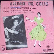 Discos de vinilo: LILIAN DE CELIS - LA VIOLETERA+3- EP COLUMBIA, ESPAÑA. Lote 124618387