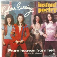 Discos de vinilo: SG GOLDEN EARRING : FROM HEAVEN FROM HELL . Lote 124623531