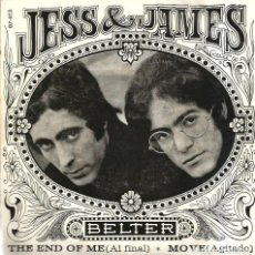 Discos de vinilo: SG PROMO JESS & JAMES : THE END OF ME + MOVE . Lote 124623707