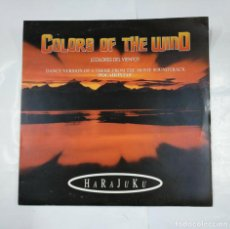 Discos de vinilo: COLORS OF THE WIND. COLORES DEL VIENTO. DANCE VERSION. POCAHONTAS. HARAJUKU. MAXI-SINGLE. TDKDA28. Lote 124650895