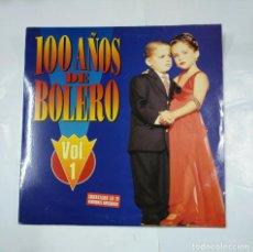 Discos de vinilo: 100 AÑOS DE BOLERO. VOL. VOLUMEN 1. DOBLE LP. TDKDA28. Lote 124653251