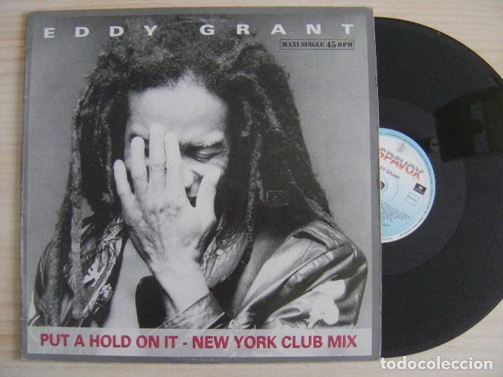 EDDY GRANT - PUT A HOLD ON IT NEW YORK CLUB MIX - MAXISINGLE 45 1988 - HISPAVOX (Música - Discos de Vinilo - Maxi Singles - Reggae - Ska)