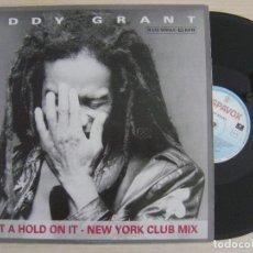 Discos de vinilo: EDDY GRANT - PUT A HOLD ON IT NEW YORK CLUB MIX - MAXISINGLE 45 1988 - HISPAVOX. Lote 124655519