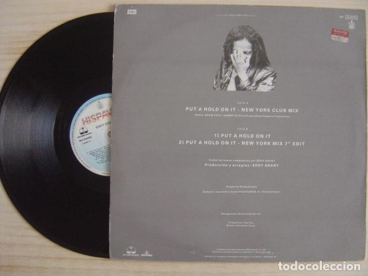 Discos de vinilo: EDDY GRANT - Put a Hold On It New York Club Mix - MAXISINGLE 45 1988 - HISPAVOX - Foto 2 - 124655519