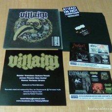 Discos de vinilo: VILLAINY - VILLAINY (LP 2014, HAMMERHEART RECORDS HHR 2014-32, INCLUYE ENCARTE + PEGATINA) NUEVO. Lote 124661875