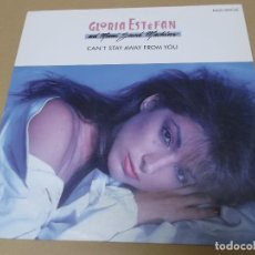 Discos de vinil: GLORIA ESTEFAN AND MIAMI SOUND MACHINE (MX) CAN'T STAY AWAY FROM YOU +2 TRACKS AÑO 1988. Lote 124666475
