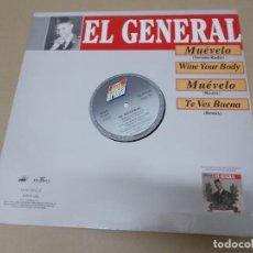 Discos de vinilo: EL GENERAL (MX) MUEVELO +3 TRACKS AÑO 1992EL GENERAL (MX) MUEVELO +3 TRACKS AÑO 1992. Lote 124668175