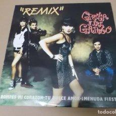 Discos de vinilo: GRETA Y LOS GARBO (MX) REMIX +1 TRACK AÑO 1991. Lote 124668487