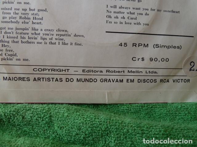Discos de vinilo: NEIL SEDAKA -STUPID CUPID - OH CAROL -EDICION DE BRASIL - Foto 4 - 124676959