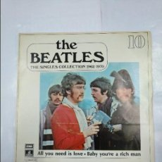 Discos de vinilo: THE BEATLES. THE SINGLES COLLECTION. Nº 10. ALL YOU NEED IS LOVE. BABY YOU'RE A RICH MAN. TDKDS4. Lote 124682567