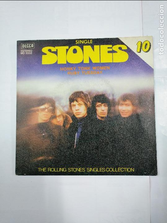 THE ROLLING STONES  (SINGLES COLLECTION Nº 10) - HONKY TONK WOMEN / RUBY  TUESDAY- SINGLE  TDKDS4