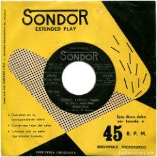 Discos de vinilo: AMALIA DE LA VEGA – CERRO LARGO - EP URUGUAY - SONDOR 45036. Lote 124682811