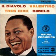 Discos de vinilo: RAOUL ZEQUEIRA ET SES CUBAINS – IL DIAVOLO - EP FRANCE 1958 - PHILIPS 424.208 PE . Lote 124683423