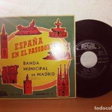 Discos de vinilo: ESPAÑA EN EL PASODOBLE BANDA MUNICIPAL DE MADRID. Lote 124685239