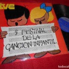 Discos de vinilo: V 5 FESTIVAL DE LA CANCION INFANTIL LP 1973 PALOBAL TV TVE. Lote 124685355