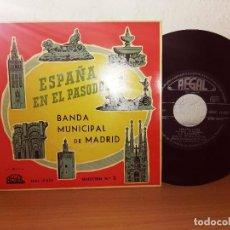 Discos de vinilo: ESPAÑA EN EL PASODOBLE. BANDA MUNICIPAL DE MADRID. SELECCIÓN. Lote 124686111