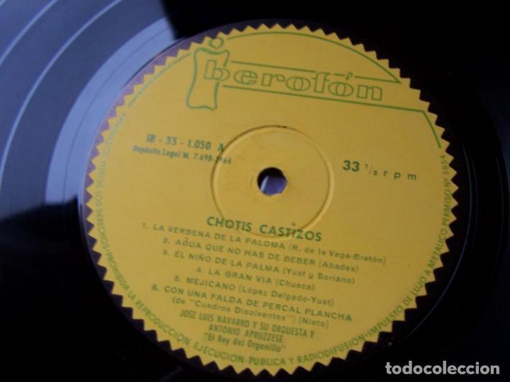 Discos de vinilo: Chotis castizos - orquesta de Jose Luis Navarro y Antonio Apruzzese (IBerefon 1964) - Foto 3 - 124696855