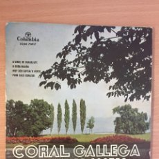 Discos de vinilo: CORAL GALLEGA ROSALIA DE CASTRO COLUMBIA 1.959. Lote 124701027