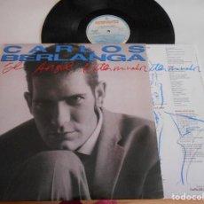 Discos de vinilo: CARLOS BERLANGA-LP EL ANGEL EXTERMINADOR-ENCARTE LETRAS. Lote 124729583