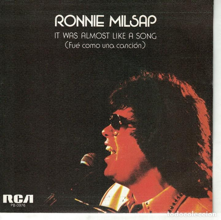 RONNIE MILSAP - IT WAS ALMOST LIKE A SONG / IT DON'T HURT TO DREAM (SINGLE PROMO ESPAÑOL, RCA 1977) (Música - Discos - Singles Vinilo - Pop - Rock - Extranjero de los 70)