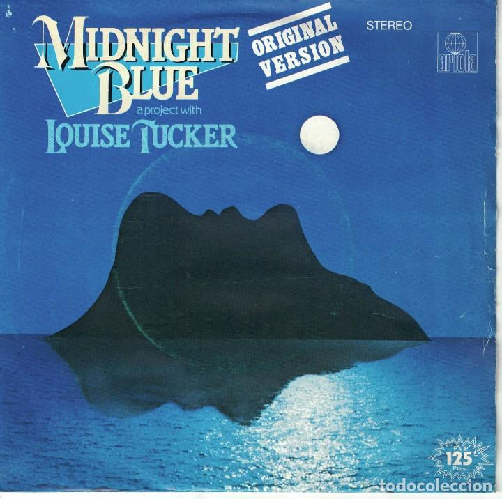 Discos de vinilo: MIDNIGHT BLUE WITH LOUISE TUCKER - MIDNIGHT BLUE / VOICES IN THE WIND - Foto 1 - 124737931