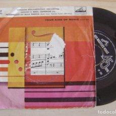 Discos de vinilo: THE LONDON PHILHARMONIC ORCHESTRA - BASIL CAMERON - INTERMEZZO + ALLA MARCIA - SINGLE UK - HIS MASTE. Lote 124820327