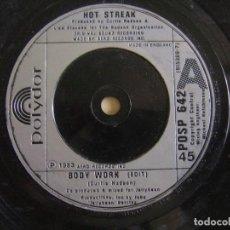 Discos de vinilo: HOT STREAK - BODY WORK - SINGLE UK 1983 - POLYDOR. Lote 124833943