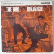 Discos de vinilo: THE DUO DINAMICO! DIRECT FROM SPAIN EP HIS MASTER'S VOICE 1961 RARISIMO PRIMER EP INGLÉS. Lote 124838879