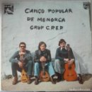 Discos de vinilo: GRUP C.P.E.P. - CANÇO POPULAR DE MENORCA 1977 LP PHILIPS GRUP CPEP ISLAS BALEARES ILLES BALEARS. Lote 124871635