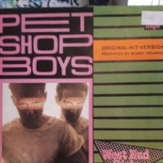 Discos de vinilo: PET SHOP BOYS WEST END GIRLS. Lote 124892875