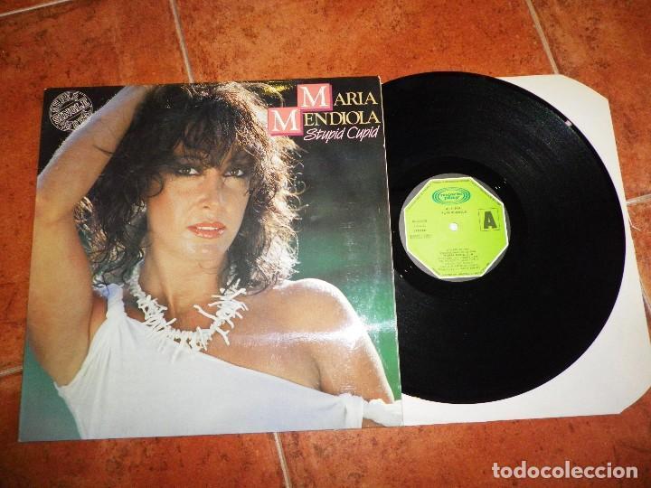 MARIA MENDIOLA STUPID CUPID / THE TIME OF YOUR LIFE MAXI SINGLE VINILO DEL AÑO 1983 2 TEMAS BACCARA (Música - Discos de Vinilo - Maxi Singles - Solistas Españoles de los 70 a la actualidad)