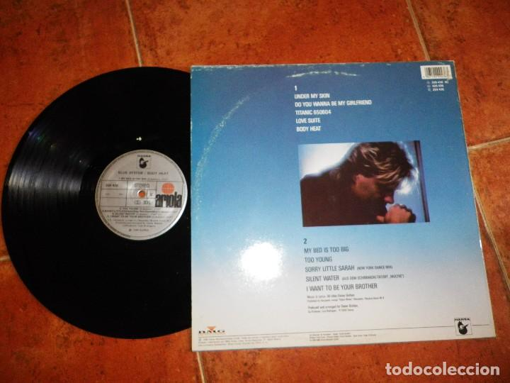 Discos de vinilo: BLUE SYSTEM Body heat LP VINILO DEL AÑO 1988 ESPAÑA MODERN TALKING 10 TEMAS DIETER BOHLEN RARO - Foto 2 - 124921323