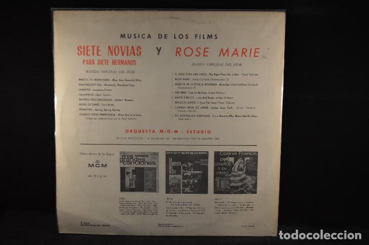Discos de vinilo: BANDA SONORA ORIGINAL DE LA PELICULA SIETE NOVIAS PARA SIETE HERMANOS - 2 LP - Foto 2 - 124923663
