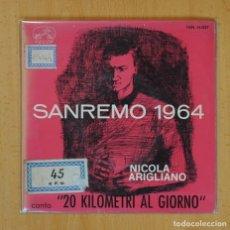 Discos de vinilo: NICOLA ARIGLIANO - 20 KILOMETRI AL GIORNO + 3 - EP. Lote 124929004