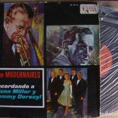 Discos de vinilo: THE MODERNAIRES - RECORDANDO A GLENN MILLER Y TOMMY DORSEY - LP ESPAÑOL 1962 - UNITED ARTISTS. Lote 124939955